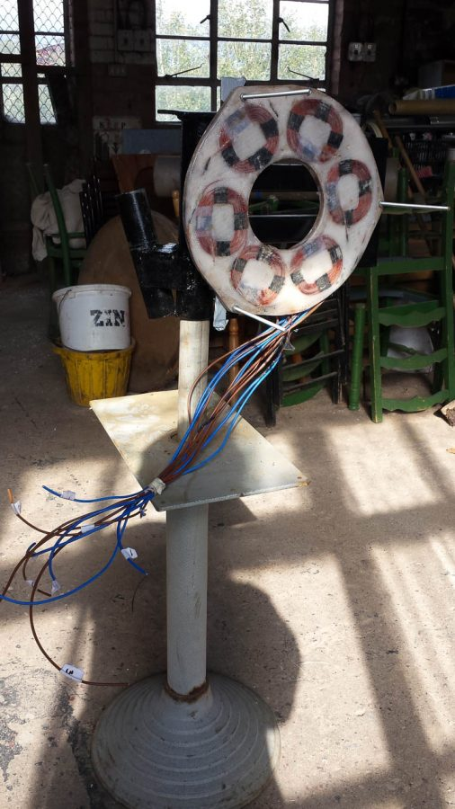 DIY Wind Turbine Hugh Piggott Design Construction, Yaw Head With Stator