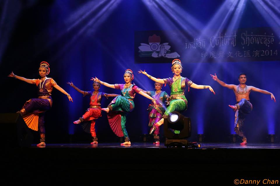Hari Om dancers on stage