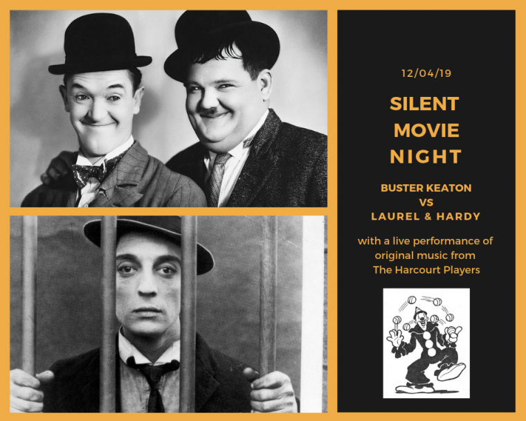 silent movie night buster keaton laurel and hardy